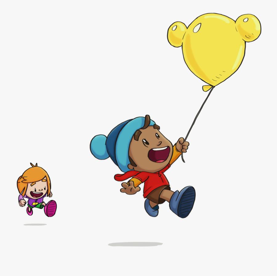 - Fizzbang Balloon Scene Colour - Cartoon , Free Transparent Clipart