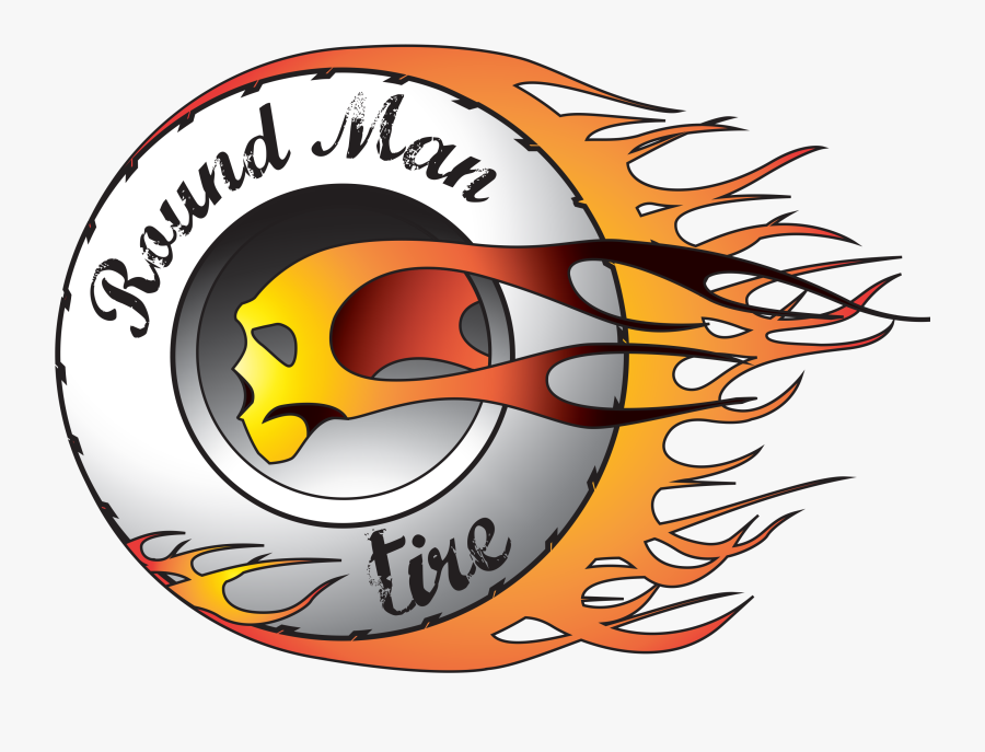 Round Man Tire - Motorcycle Tire On Fire, Transparent Clipart