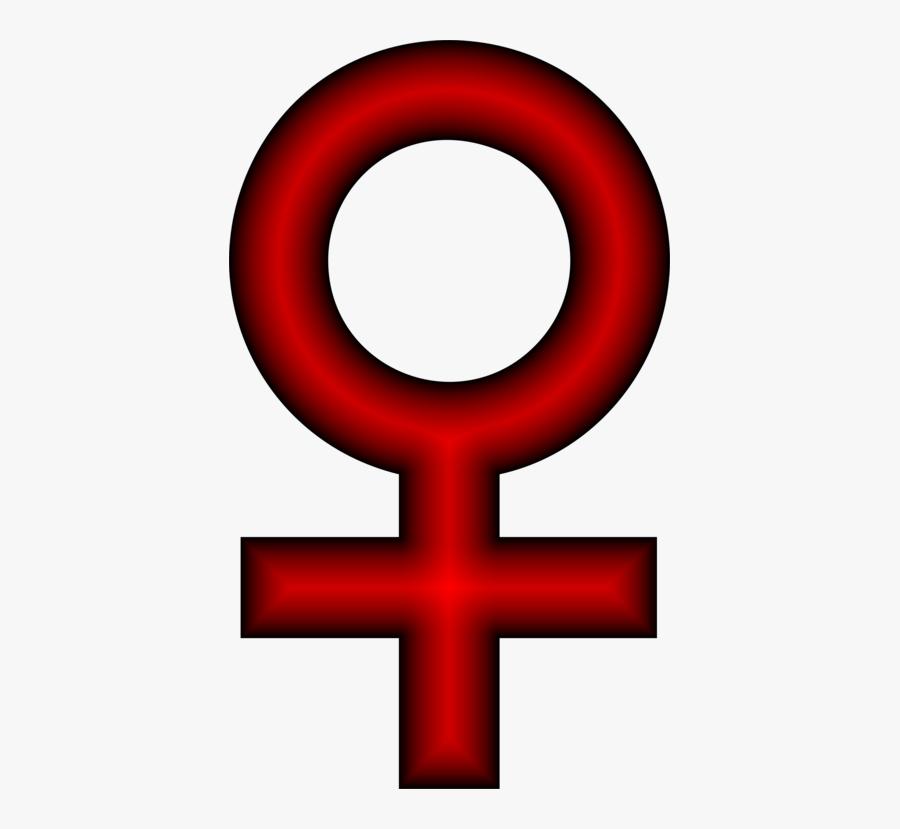Text,symbol,number - Female Symbol Red, Transparent Clipart