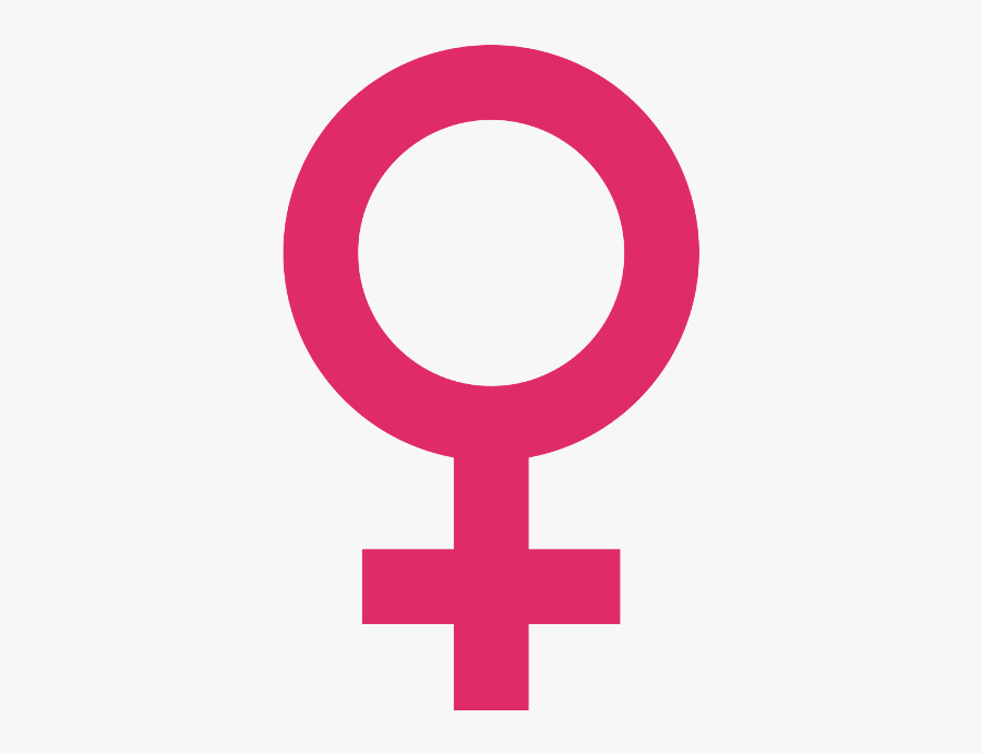Female Symbole - Pink Female Symbol Png, Transparent Clipart