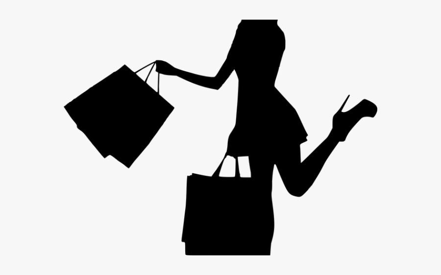 Women Bag Clipart Walking Away - Vector Family Shopping Png, Transparent Clipart