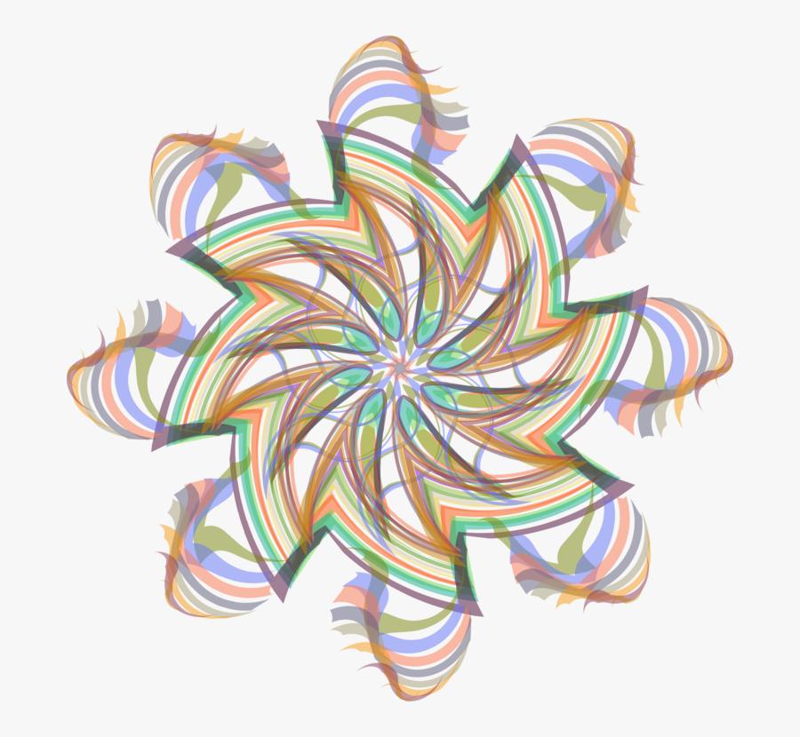 Line,flower,symmetry - Visual Arts, Transparent Clipart