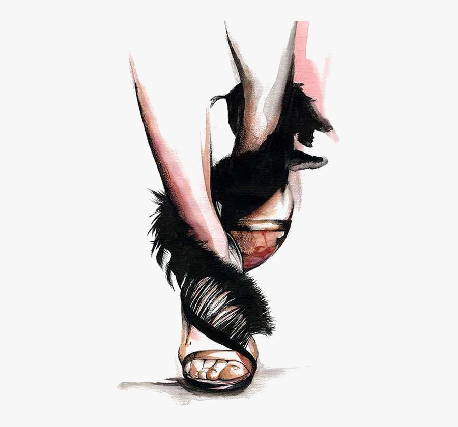 Fashion Illustrator Drawing Illustration Shoes Png - Drawing Shoes Fashion Illustration, Transparent Clipart