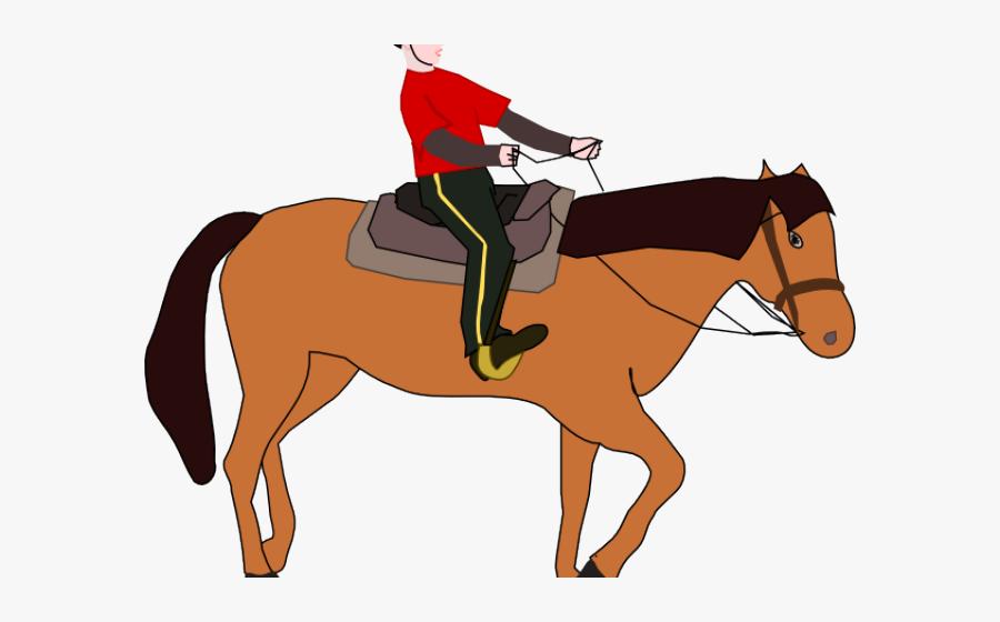 Ride A Horse Cartoon Png, Transparent Clipart