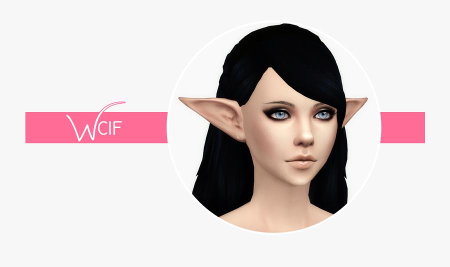 Elf Ear Skin Detail Sims 4 Cc - Sims 4 Notegain Elf Ears, Transparent Clipart