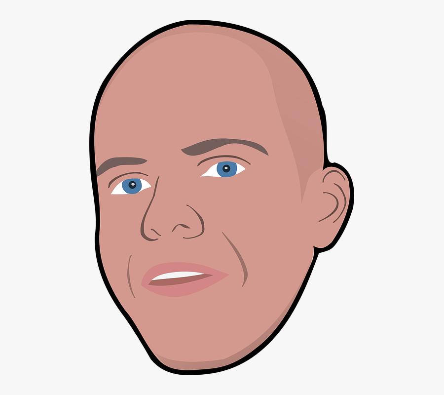 Portrait Clipart Head - Bald Head Man Clipart, Transparent Clipart