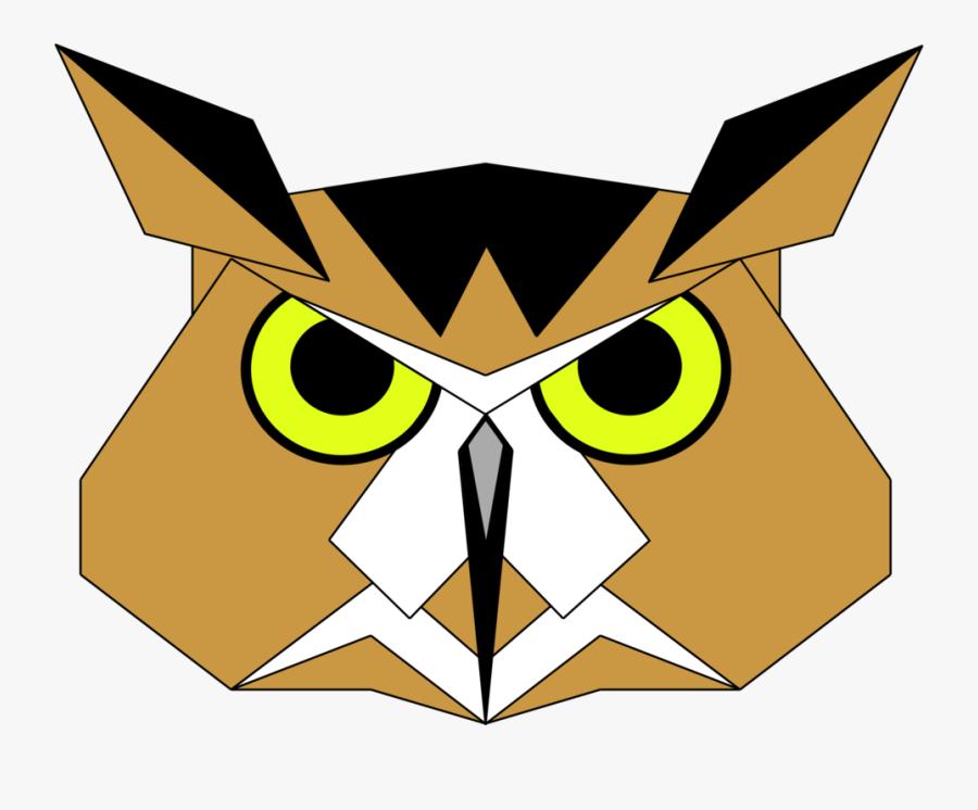 Owl Art Symmetry Sketsa Gambar Kepala Burung Hantu Free