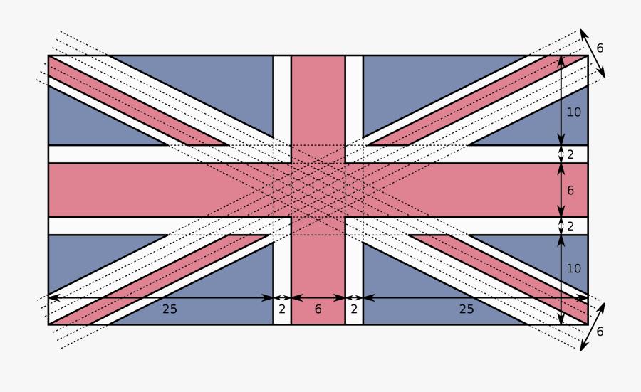 United Kingdom Flag Measurements, Transparent Clipart