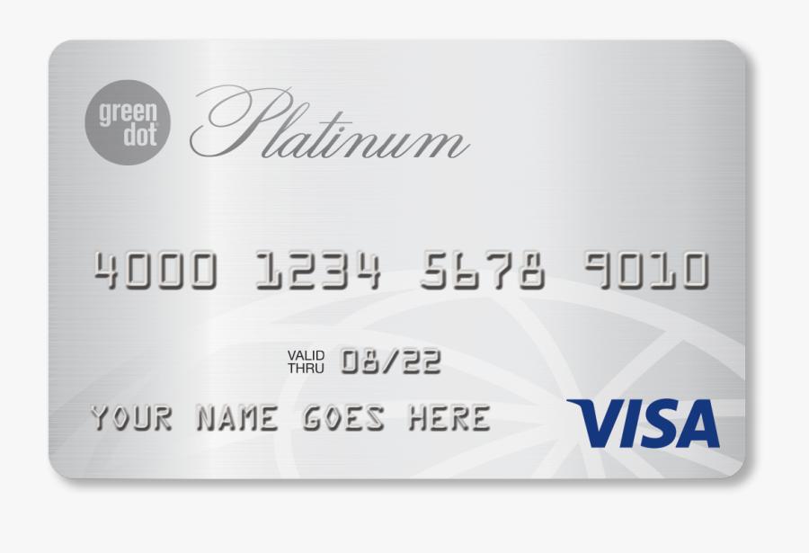 Green Dot Primor® Secured Visa® Platinum Card - Green Dot Platinum Credit Card, Transparent Clipart