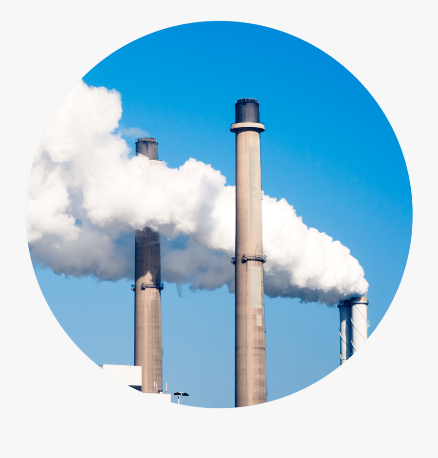 Pollution Clipart Smoke Stacks - Power Station, Transparent Clipart