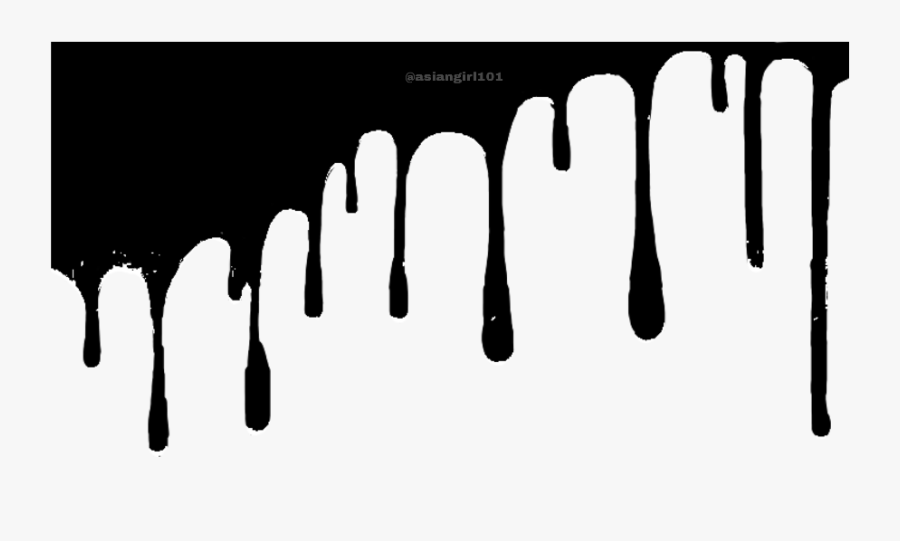 Transparent Dripping Slime Clipart - Dripping Effect Png Black, Transparent Clipart