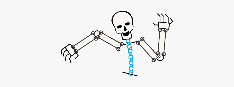 Drawing Human Body Text - Skeleton Legs Easy Drawing, Transparent Clipart