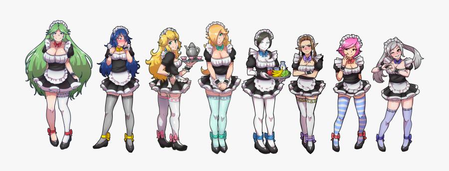 Super Smash Bros Waifu , Transparent Cartoons - Super Smash Bros Maid, Transparent Clipart