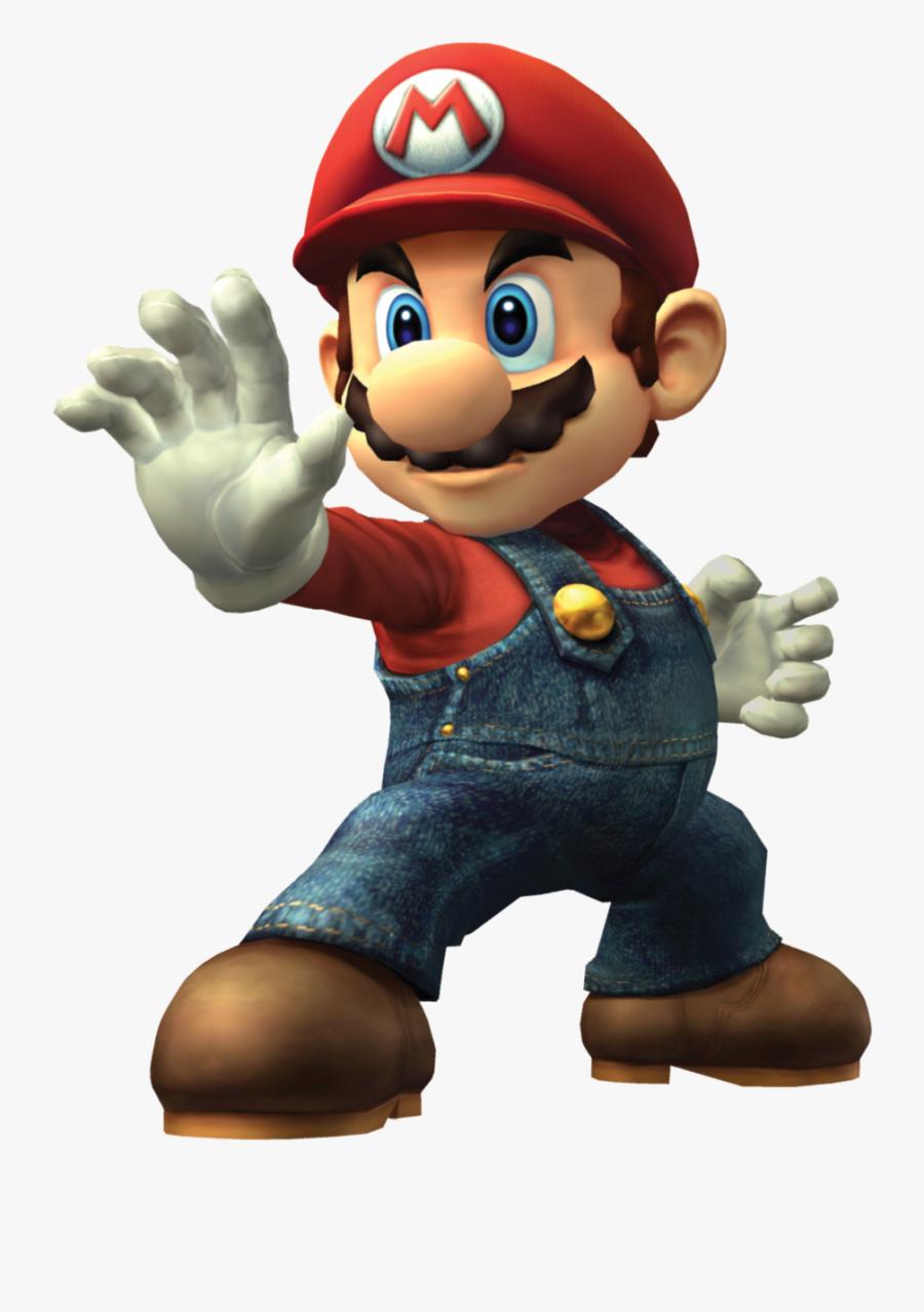 Transparent Brawl Clipart - Smash Bros Brawl Mario Png, Transparent Clipart