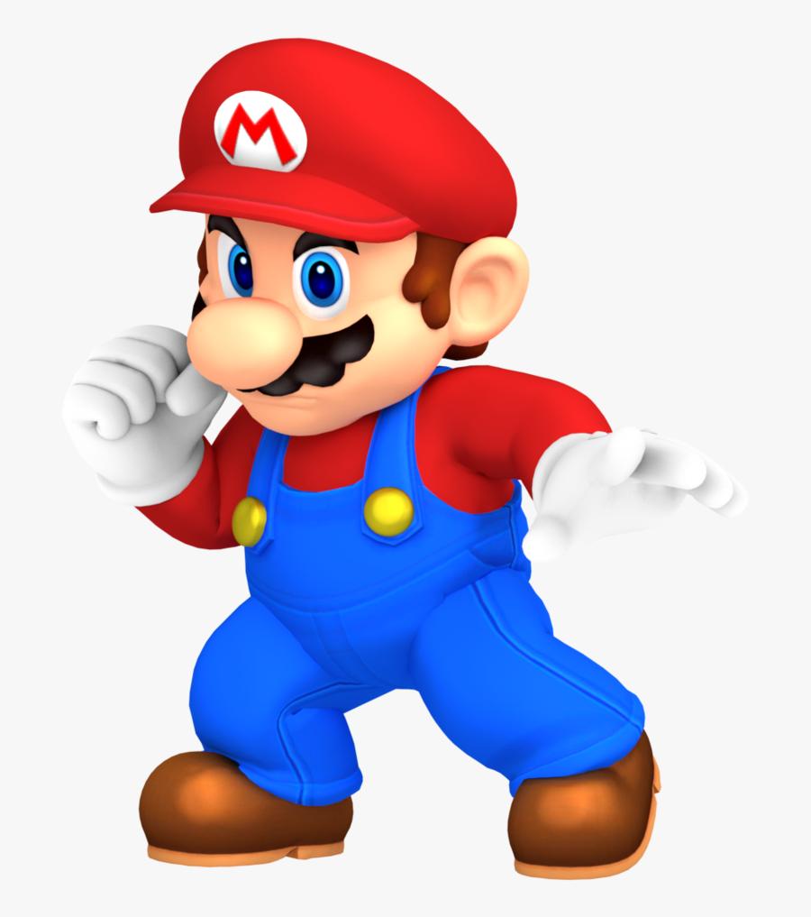 Super Bros Pose Redone - Smash Bros Mario Png, Transparent Clipart