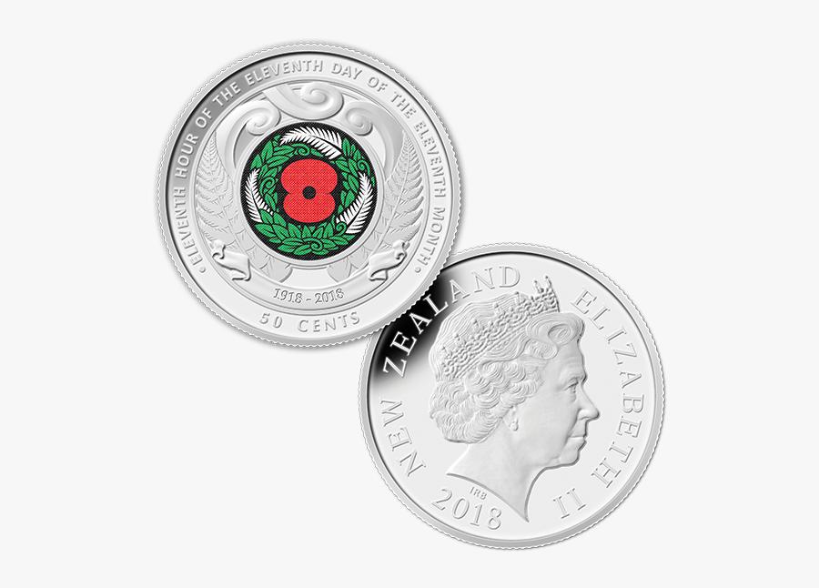 Transparent Money Roll Png - Nz 50 Cent Coin, Transparent Clipart