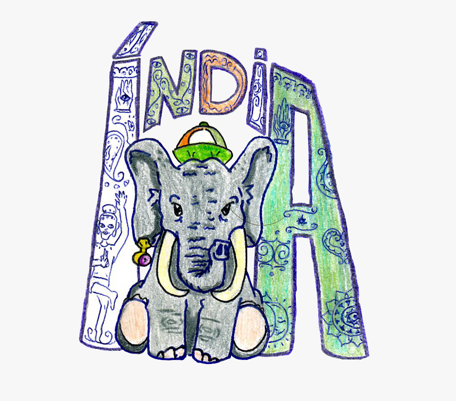 Indian Elephant Clipart - Indian Elephants Drawings, Transparent Clipart