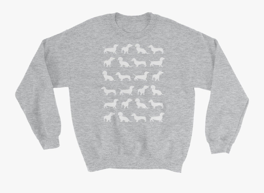 "Furtribe™ - ""dachshund Lover - Gildan 18000 Unisex Heavy Blend Crewneck Sweatshirt, Transparent Clipart"