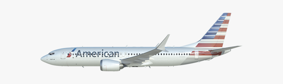 Airplane Clipart American Airlines - Boeing 737 Max 8 Transparent, Transparent Clipart