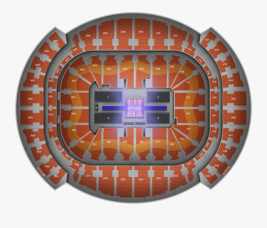 Transparent Bad Bunny Png - American Airlines Arena Seating Chart Ariana Grande, Transparent Clipart