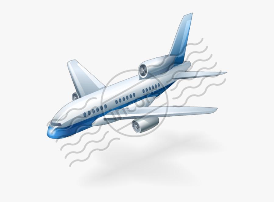 Airplane, Transparent Clipart