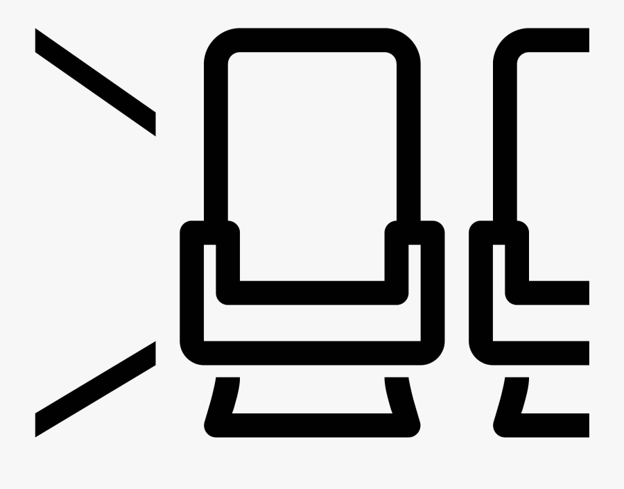 Aircraft Seat Aisle Icon - Airplane Seat Icon, Transparent Clipart