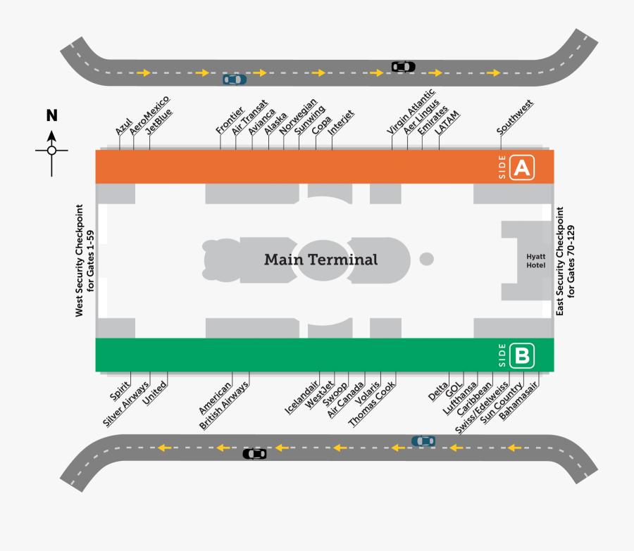 Transparent Boarding Pass Clipart - Main Terminal A And B Orlando, Transparent Clipart