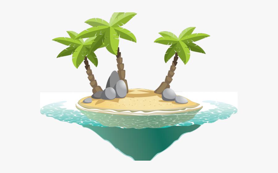 Paradise Island Vector, Transparent Clipart