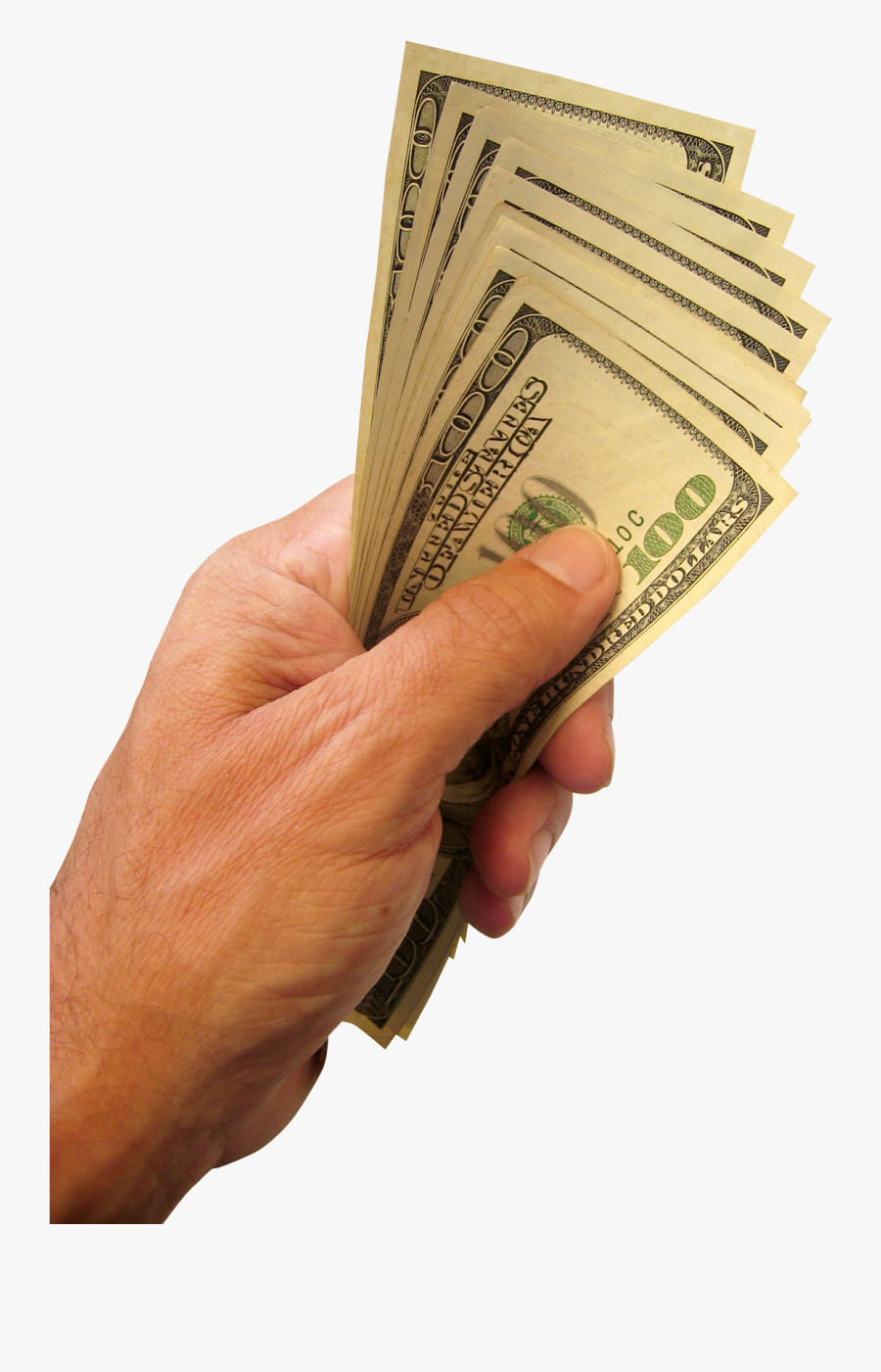 Hand Holding Dollars Money Transparent Image - Hand With Money Png, Transparent Clipart