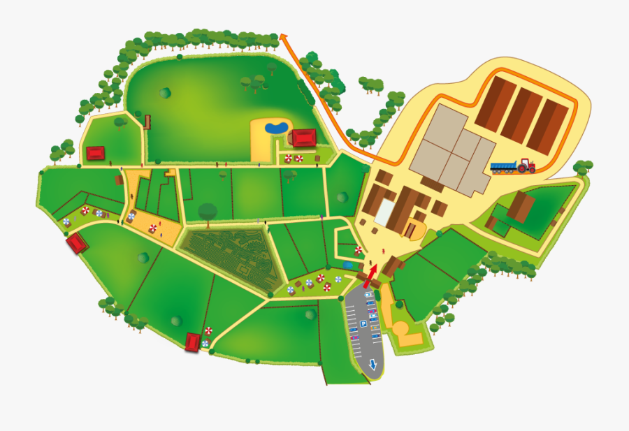 Noah's Ark Zoo Farm Map, Transparent Clipart