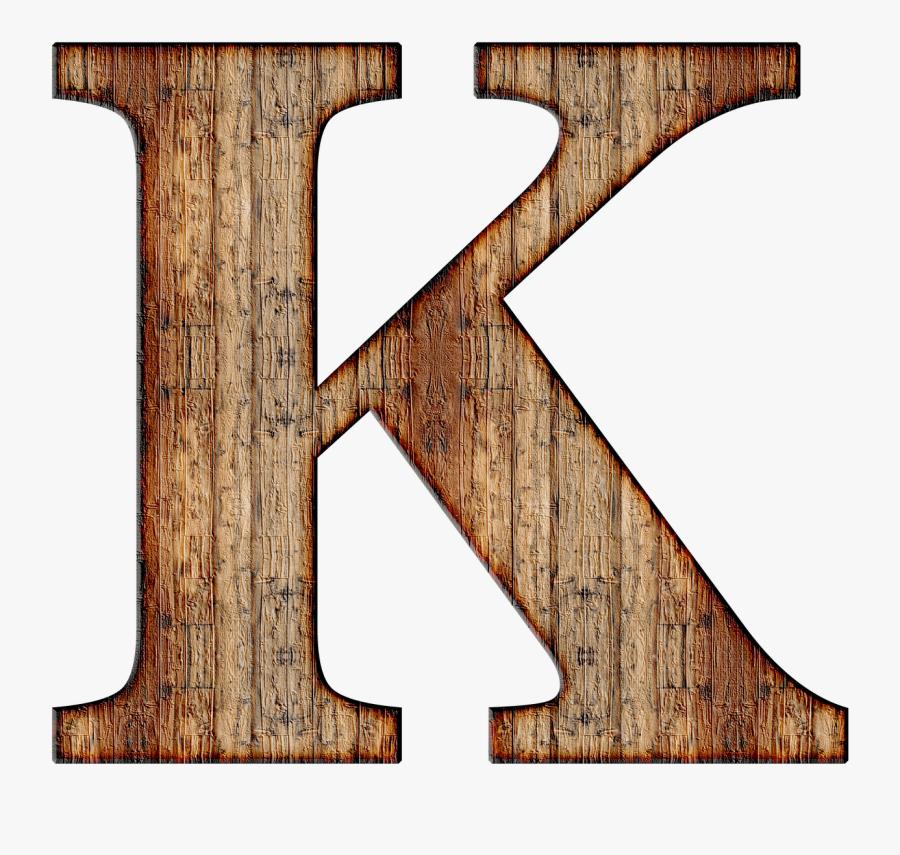 Wooden Letters Alphabet Png - Letter K Transparent Background, Transparent Clipart