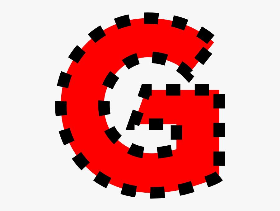 Uppercase G Clip Art At Clker - Letter O Clip Art, Transparent Clipart