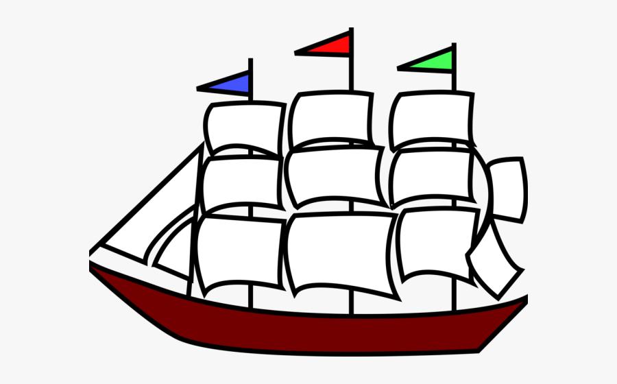 Sailing Ship Clipart Dog - Big Ship Clip Art, Transparent Clipart
