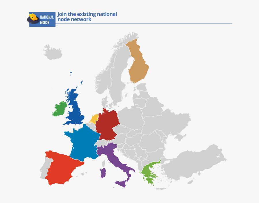 Europe Map Vector , Png Download - Paises Fundadores De La Comunidad Economica Europea, Transparent Clipart