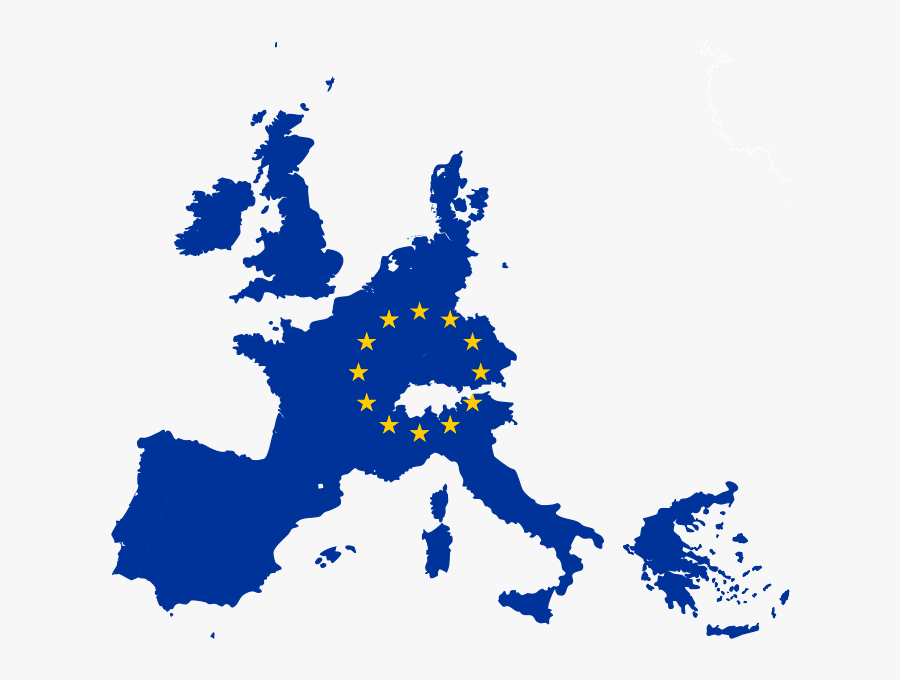 United States Of Europe Map - Eu Map With Flag, Transparent Clipart