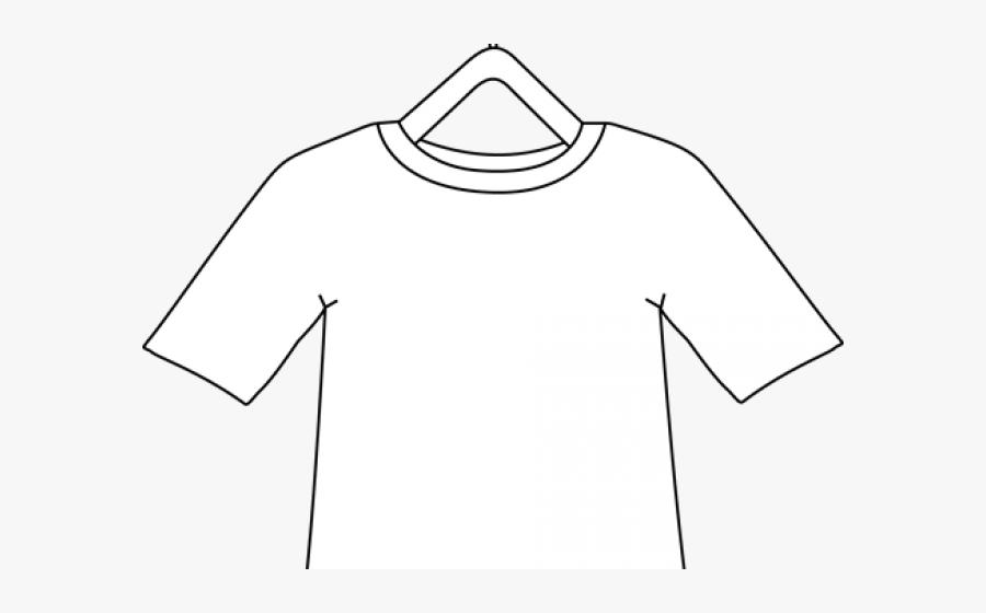 Dress Shirt Clipart Line Drawing - Long-sleeved T-shirt, Transparent Clipart