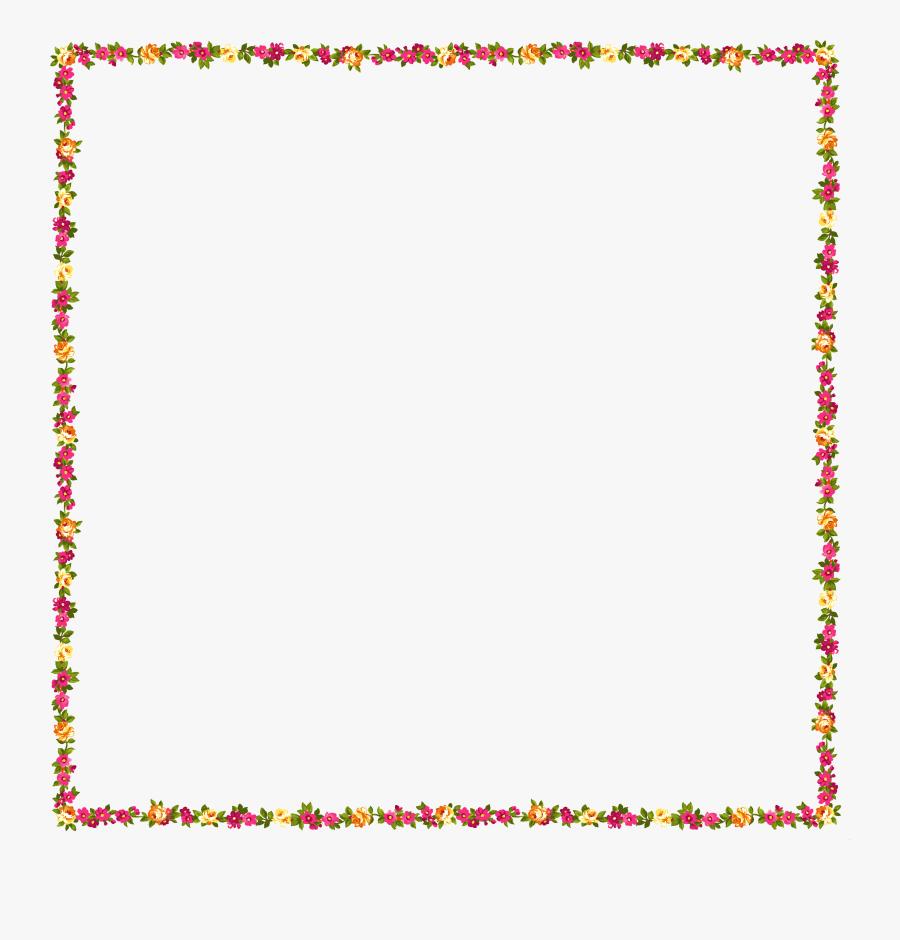 Transparent Frames Clipart - Colorful Transparent Background Border, Transparent Clipart