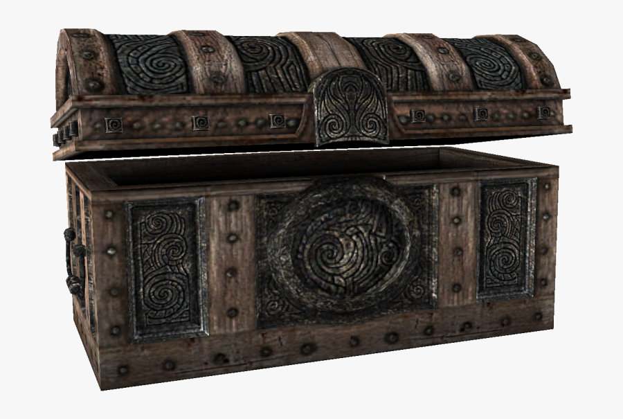 Treasure Chest Png Picture - Skyrim Boss Chest, Transparent Clipart