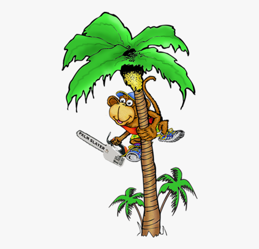 Banner Library Stock The Palminators And Removals - Palm Tree Trimming Cartoon, Transparent Clipart