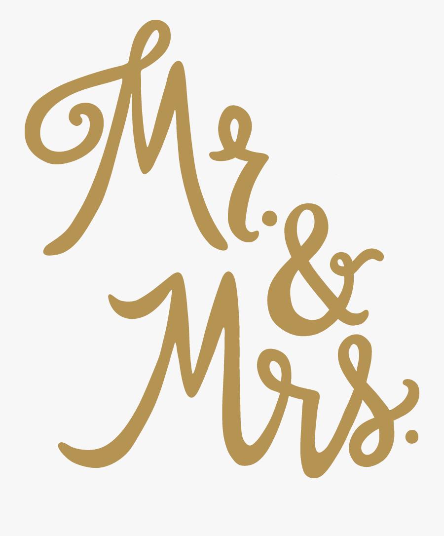 & Mrs - Mr And Mrs Svg, Transparent Clipart