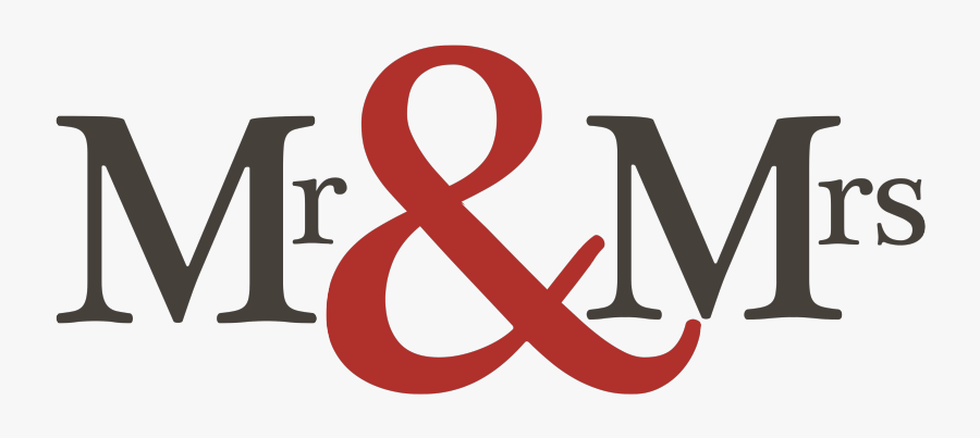 Mr And Mrs Logo - Mr And Mrs Est 2019, Transparent Clipart