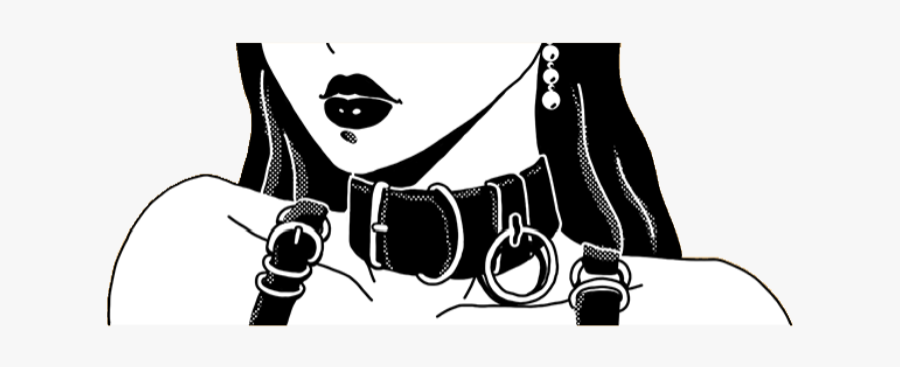 #kawaii #cute #black #manga #anime #girl #goth #png - Black And White Kawaii Anime Girl, Transparent Clipart