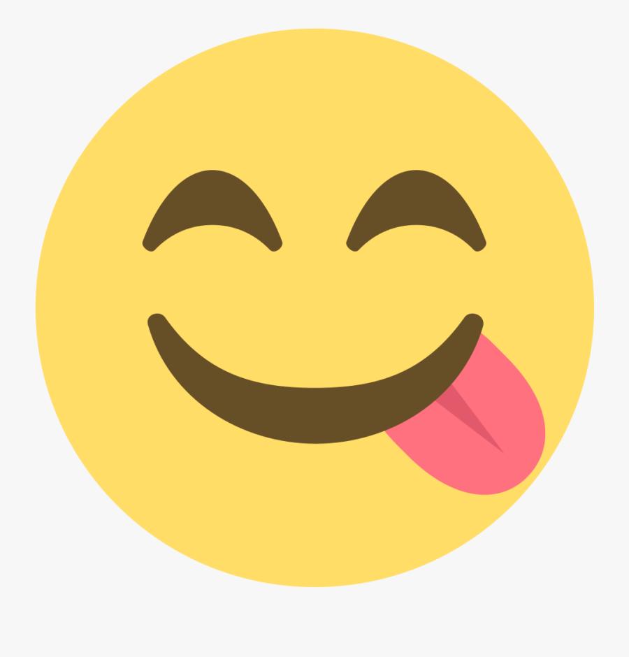 Birthday Emoji Emoticon Facebook - Face Savouring Delicious Food Emoji, Transparent Clipart