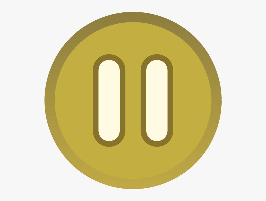 Gold Brown Plain Pause Button Icon Svg Clip Arts - Gold Pause Button Png, Transparent Clipart