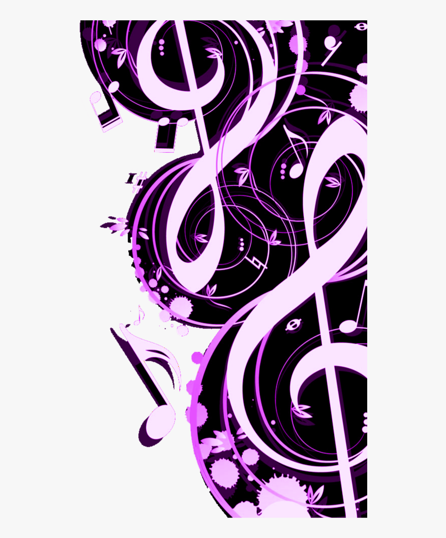 #mq #pink #music #notes #note #border #borders - Purple Music Note Border, Transparent Clipart