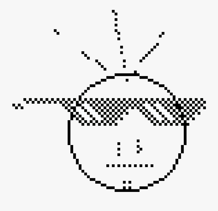 Fonts Drawing Thug - Circle Sprite Pixel Art, Transparent Clipart