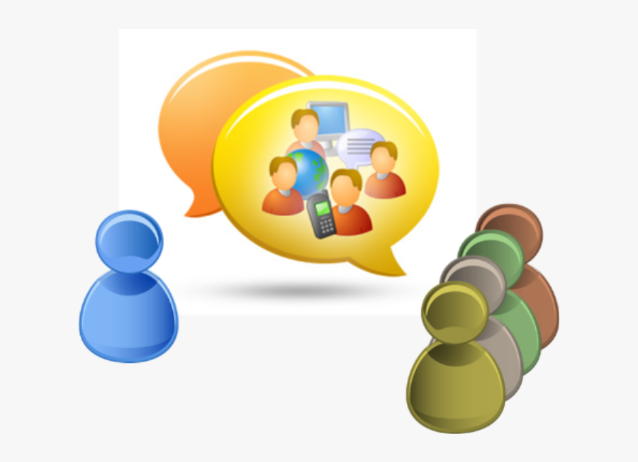 Discussion Clipart Group Communication - Chat Icon, Transparent Clipart