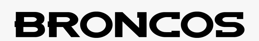 Clip Art Font Download Famous Fonts - Denver Broncos Font, Transparent Clipart