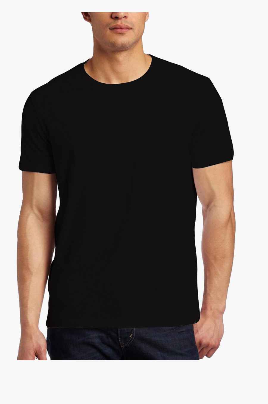 Black T-shirt Png Image Background - Real Black T Shirt Template, Transparent Clipart