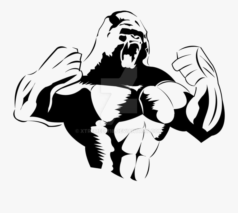 Drawing At Getdrawings Com Free For Personal - Angry Gorilla Drawing Png, Transparent Clipart